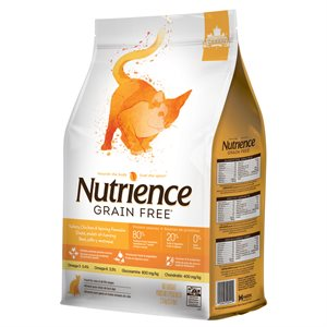 NUTRIENCE SANS GRAIN CHAT DINDE, POULET ET SAUMON 2.5KG