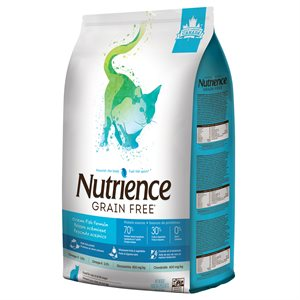 NUTRIENCE SANS GRAIN CHAT POISSON OCÉANIQUE ET SAUMON 5KG