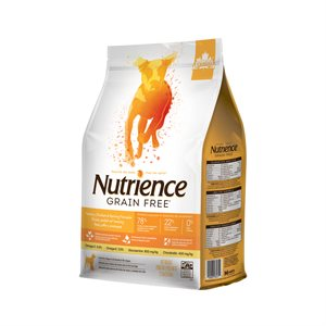 NUTRIENCE SANS GRAIN DINDE, POULET ET SAUMON 2.5KG