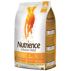 NUTRIENCE SANS GRAIN DINDE, POULET ET SAUMON 5KG